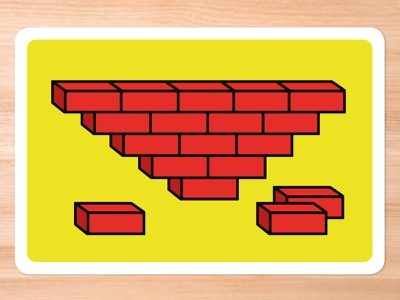Improv Cards - Bricks graphic design vector illustrator illustration