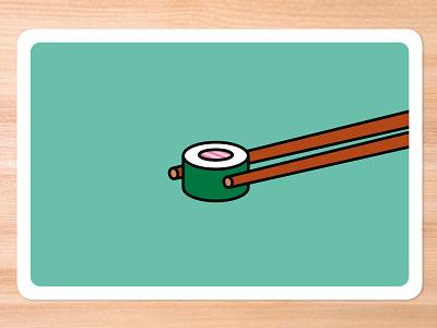 Improv Cards - Sushi card game graphic design vector icebreaker sushi illustrator illustration