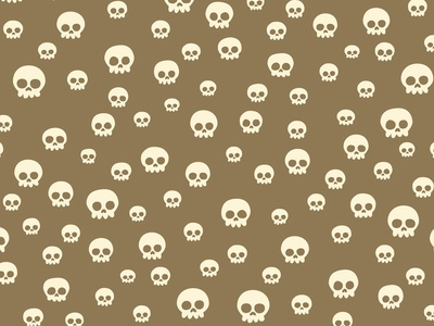 Skull Pattern seamless pattern illustration skulls bones retro vintage wrapping