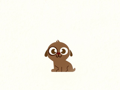 Puppy dog puppy pet retro vintage children kids illustration vector