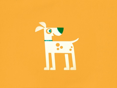 Spot dog puppy pet retro vintage children kids illustration canine vector