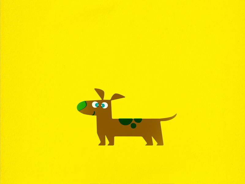 Dachshund dog puppy pet retro vintage children kids illustration wiener vector