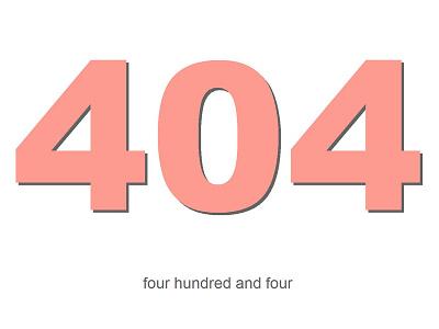 404 page - JohnJLocke.com pink white 404 clean minimalistic typography simple sacramento
