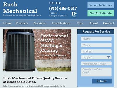 HVAC Website sacramento blue hvac flat design forms heating cooling business small business website lockedown