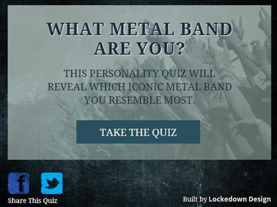 Metal Quiz Teaser Screen