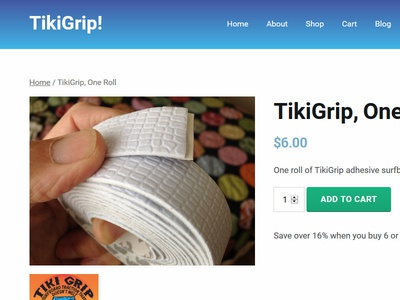 TikiGrip Product Page