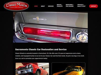 Classic Muscle auto restoration classic cars red auto repair black