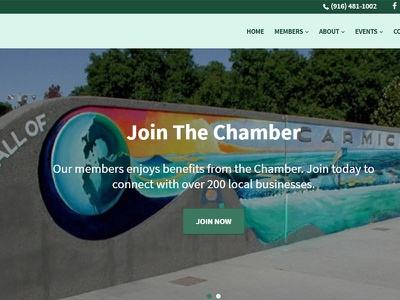 Carmichael Chamber of Commerce seafoam sage teal custom wordpress chamber green