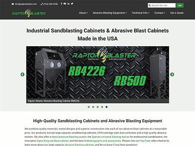 Raptor Blaster manufacturing seo manufacturer industrial gray black green