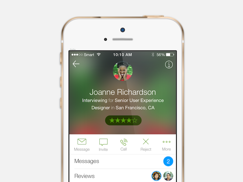 Candidate View candidate profile ios