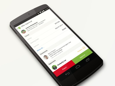 Approvals android hr hiring
