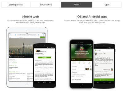 Mobile Section website