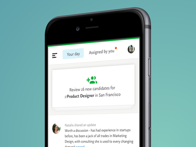 Your SmartRecruiters Day hr hiring responsive card to-do concept