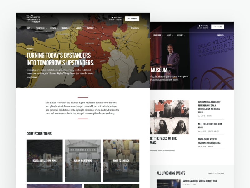 Dallas Holocaust and Human Rights - Interiors client work design typography ux design immersive museum uidesign branding ui ux website web