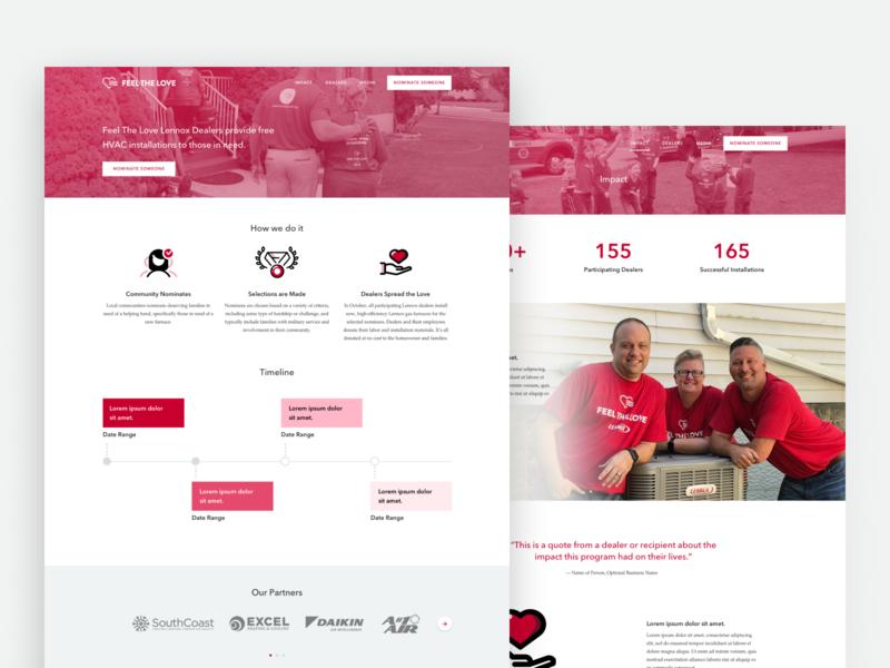 Lennox Feel the Love illustration uidesign website client work web ux design branding design branding social good