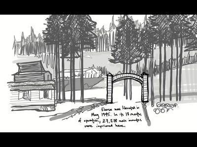 Ebensee - Part 2 of 4 hand drawn photography immersive illustration ui museum website client work web ux design