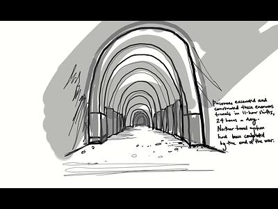 Ebensee - Part 4 of 4 hand drawn immersive illustration museum branding website client work web ux design