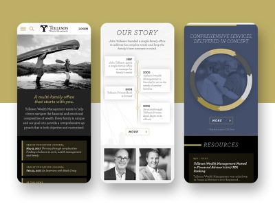Tolleson Wealth Management ux  ui agency mobile mobile design mobile ui branding design uidesign ui branding website client work web ux design