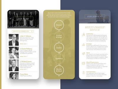 Tolleson Wealth Management mobile branding design uidesign ui branding website client work web ux design