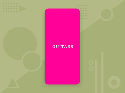 Guitar - Shopping App mobile ui landingpage interaction guitars ecommerce mobileappdesign appdesign adobexd vector illustration mobile design music guitar mobileapp shopping