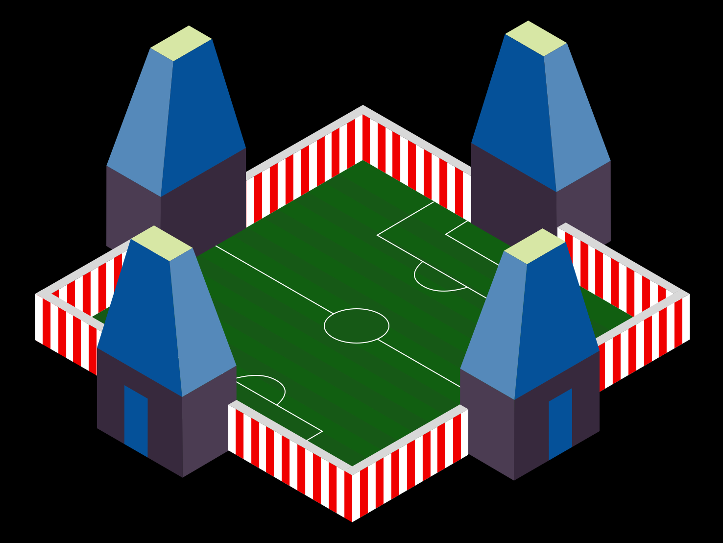 Temple Soccer art vector graphicdesign south india india temple illustration isometric soccer