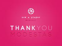 Debut Shot: Thank you Modestas!