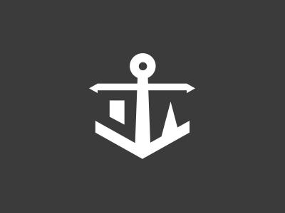 Design & Anchor design and anchor logo negative space anchor yshanti