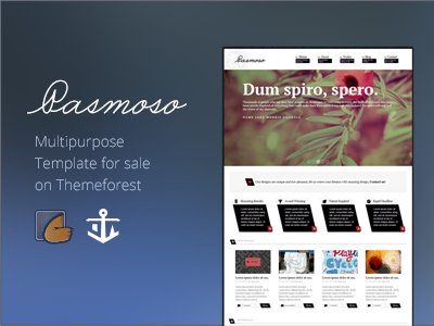 Pasmoso HTML Template web design html template themeforest