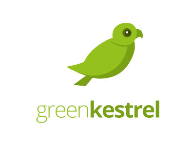 Green Kestrel american kestrel falcon bird illustration logo identity green