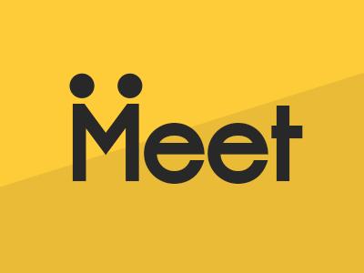 Meet | Simple Logo Concept minimal meet match basic simple logo brand