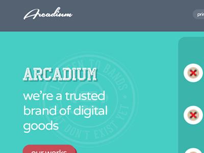 Arcadium | Single Page Template