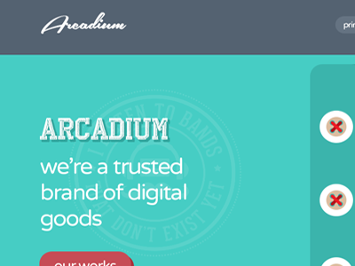 Arcadium | Single Page Template portfolio agency flat psd themeforest