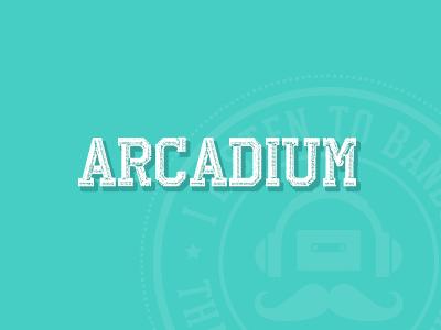 Arcadium typography flat vintage