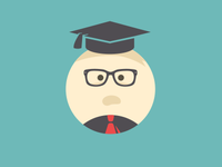 Mr. Have Graduated Jr. flat illustration graduate