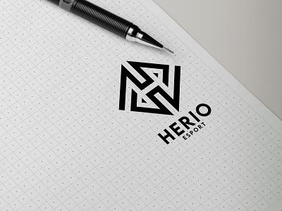 herio esport monogram logo forsale illustrator graphic design branding vector logo illustration icon design