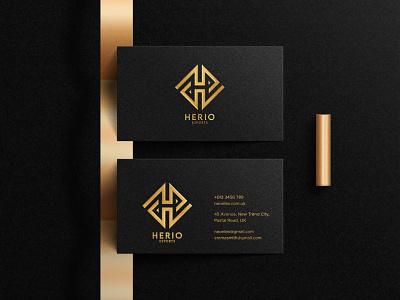 herio business card illustrator monogram logo forsale graphic design branding logo vector illustration icon design