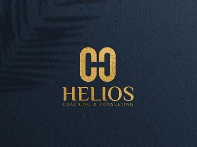 helios logo monogram logo illustrator forsale graphic design branding vector logo illustration icon design