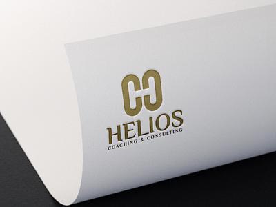 helios monogram logo forsale illustrator graphic design branding vector logo illustration icon design
