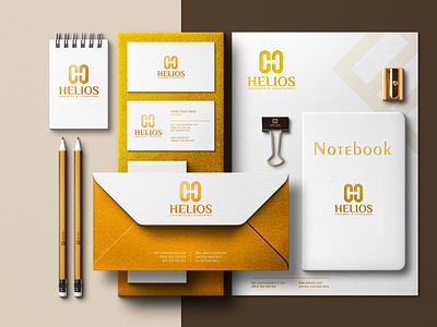 helios business card and stationery art monogram logo illustrator graphic design branding vector logo illustration icon design business card and stationery