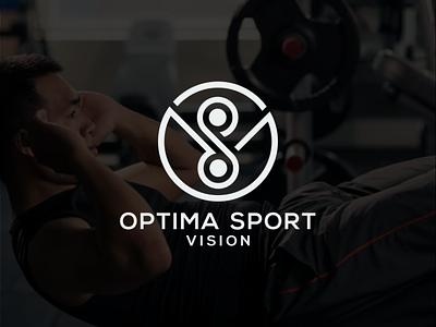 optima sport vision logo graphic design illustrator forsale monogram logo branding vector logo illustration icon design
