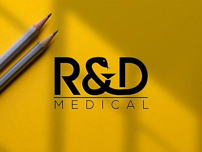 R&D MEDICAL LOGO forsale monogram logo illustrator graphic design branding vector logo illustration icon design