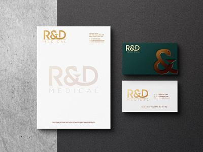 R&D BUSINESS CARD monogram logo branding illustrator graphic design business card design business card vector logo illustration icon design