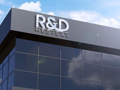 R&D IN WALL monogram logo forsale illustrator graphic design branding vector logo illustration icon design