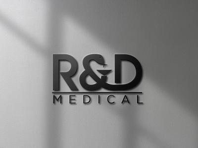 R&D MEDICAL LOGO monogram logo forsale illustrator graphic design branding vector logo illustration icon design