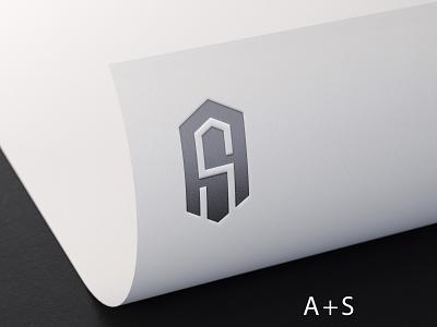 AS Logo ui ux monogram text brand banner bussines card forsale company newlogo symbol 3d typography graphic design branding vector icon logo illustration design