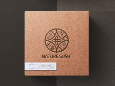 nature sushi style business card motion graphics 3d sushi company logo stationery packaging mascot symbol banner logo design typography graphic design branding vector icon logo illustration design