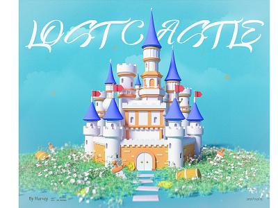 LOST CASTLE 美术 graphic design logo ui branding animation c4d 3d design illustration