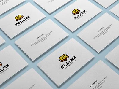 TELLME branding design logo