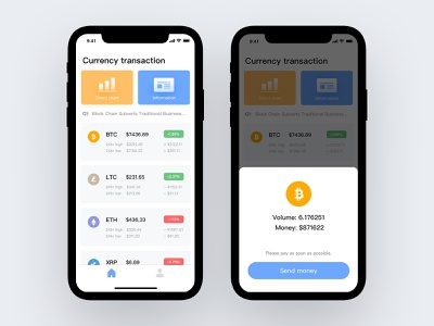 Block Chain Page ui  ux