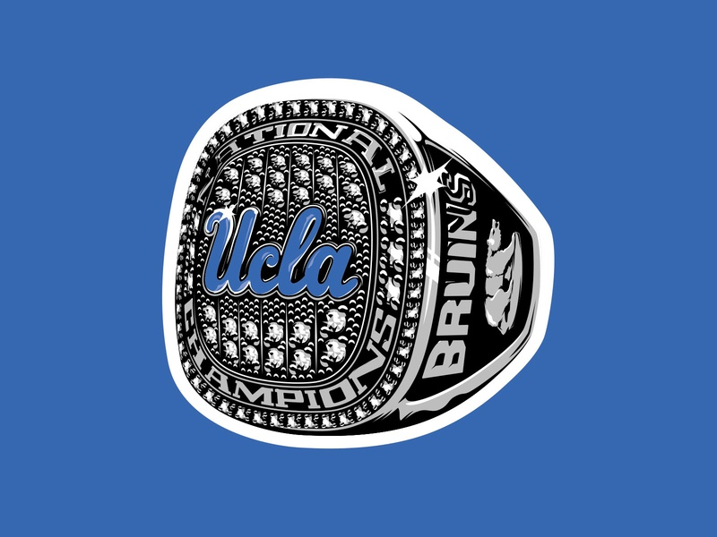 UCLA National Championship Sticker national championship sticker ring ucla